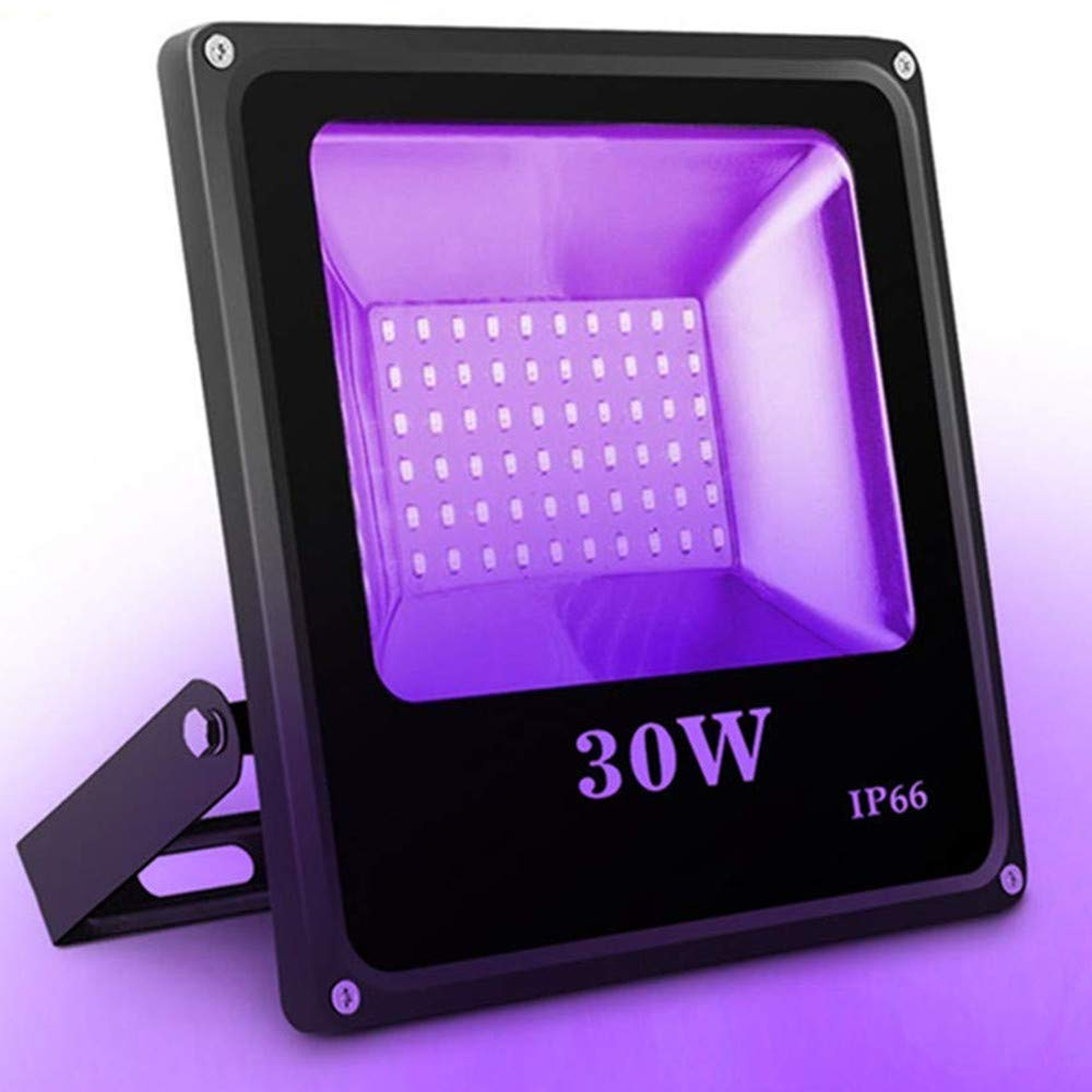 Outdoor Black Light, SOLMORE 30W 60 LED UV Flood Light Party Light Waterproof Blacklight for Halloween Party Supplies DJ Disco Night Clubs Birthday Wedding Stage Lighting Glow in The Dark AC100-240V