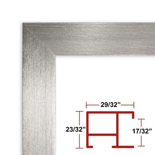 40 x 58 Shiny Silver Poster Frame - Profile: #97 Custom Size Picture Frame by Poster Frame Depot