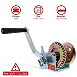 ABN Hand Winch Crank Gear Winch & Cable, Heavy