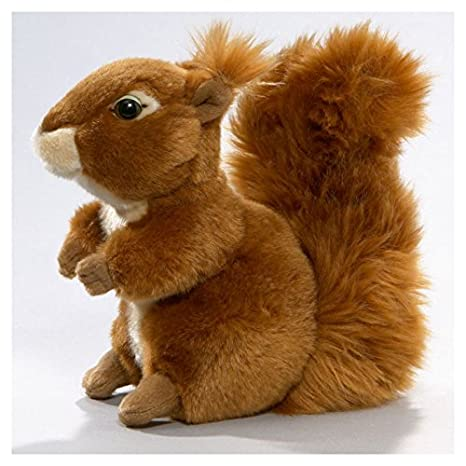 Carl Dick Squirrel 7.5 inches, 19cm, Plush Toy, Soft Toy, Stuffed Animal