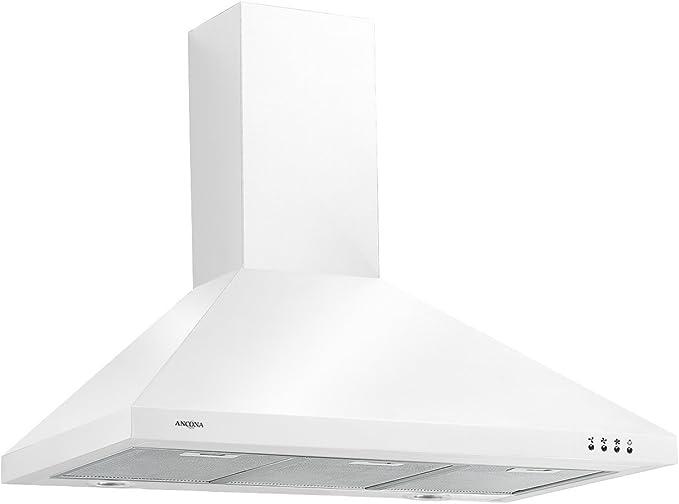Ancona Wpp436 36 400 Cfm Wall Mounted Convertible Pyramid Range Hood Led Lights White An 1185 Appliances