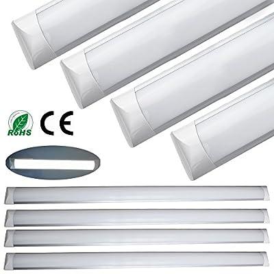 4pcs 36w slim linear LED batten tube lights, 120cm 4feet 3000lumen 6000k, Ceiling Suspended Wall Mount Slim Linear Light