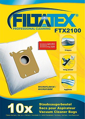 10 x FILTATEX sacs aspirateur alternative pour AUCHAN AUC219 / auchan AUC219+ / auchan 219+