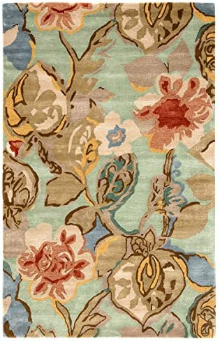 Jaipur Living Petal Pusher Hand-Tufted Floral Leaves Blue Area Rug 9'6″ X 13'6″