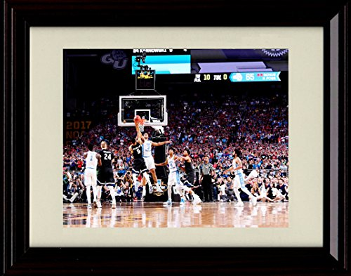 (Framed Kennedy Meeks Block - North Carolina Tar Heels Win National Championship! 8x10)