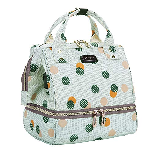 Breast Pump Bag - Breastfeeding Bags with Pockets for Cooler Bag Built-in USB for Working Mom Suit for Littler Travel Lunch Bag Mini Diaper Bag