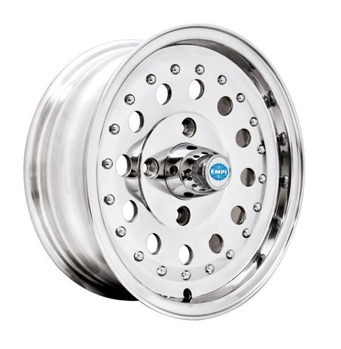 PREMIUM REVOLVER WHEEL, Polished, 5.5'' Wide, 4 on 130mm VW by Appletree Automotive