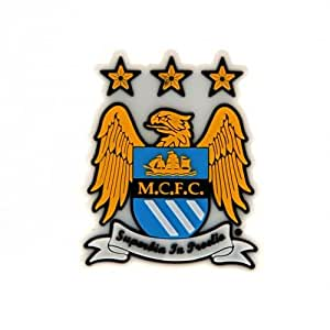 Manchester City F.C, 3D imán para nevera Imán para nevera de goma - - aprox 6 m x 5 cm - base de en una tarjeta de - Balón de fútbol oficial
