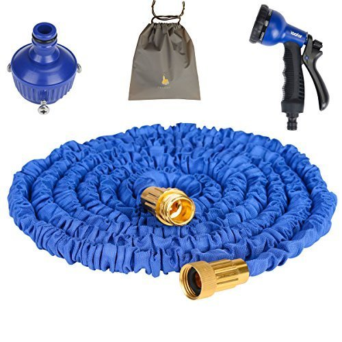 (Youfo) Yoofor extend hose 2016 enhanced version 5m ¨ 15m 3 times 8 pattern watering nozzle storage Total 4-color blue with a porch extending by (Youfo) Yoofor