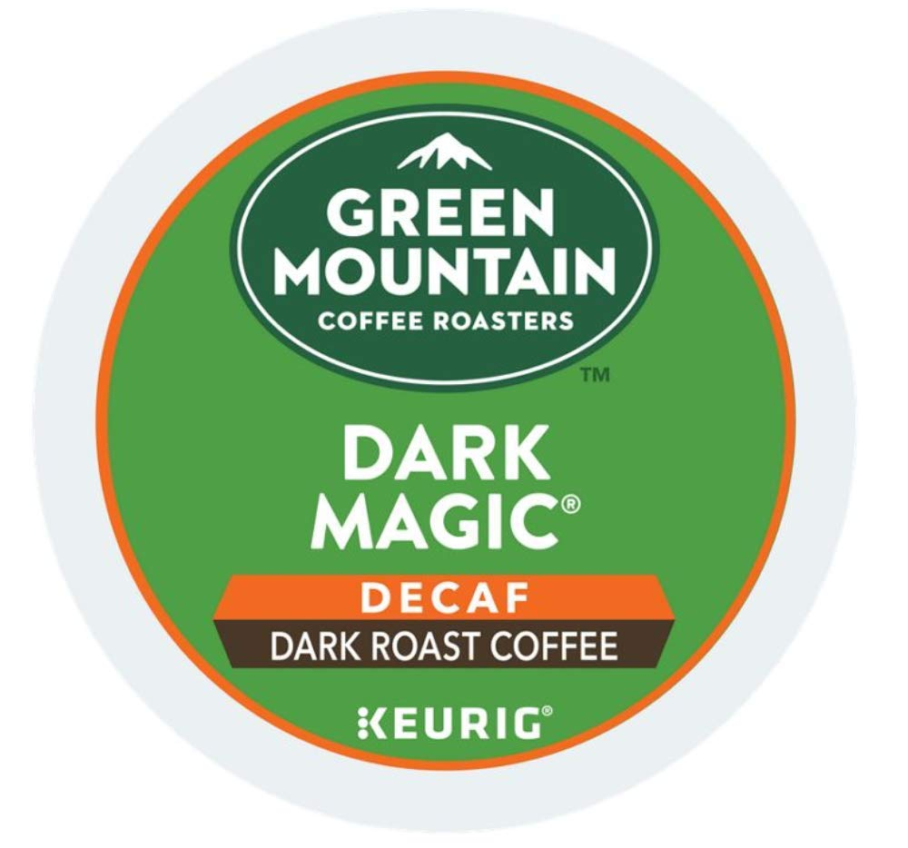 Green Mountain Coffee Roasters Dark Magic Decaf single serve K-Cup pods for Keurig brewers, 96 Count