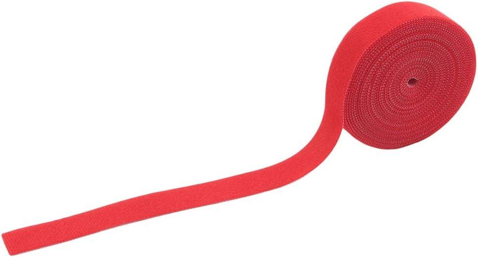 N//A Color/é Velcro Auto-Ruban adh/ésif /à Usage Unique sans Colle autoadh/ésif Ruban adh/ésif Retour Ruban Fastener,Rouge