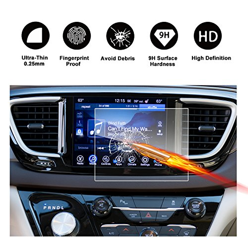 2017 2018 Chrysler Pacifica Hybrid Uconnect Touch Screen Car Display Navigation Screen Protector, RUIYA HD Clear TEMPERED GLASS Car In-Dash Screen Protective Film (8.4-Inch) by R RUIYA