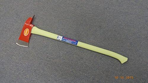 Fireman Axe (Zombie Axe) with Neon Glowing Fiberglass Handle- 6 Lbs. Pick Axe Head