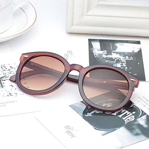 élégante nouvelle personnalité des lunettes de soleil mesdames les lunettes de soleil les lunettes la marée de stars visage rond korean les yeuxBrown (cloth) OgM4l2GA