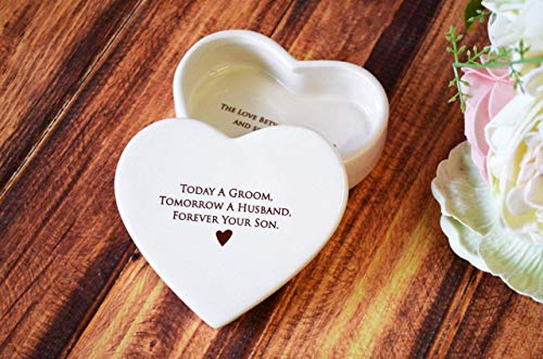 Mother of the Groom Gift, Gift From Groom to Mom - SHIPS FAST - Heart Keepsake Box - Today a Groom, Tomorrow a Husband, Forever Your Son