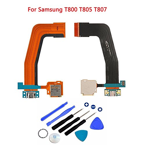 (Eaglestar Dock Connector Charger Flex Ribbon Cable Replacement for Samsung Galaxy Tab S 10.5 SM-T800 T801 T805 T807+Tools)