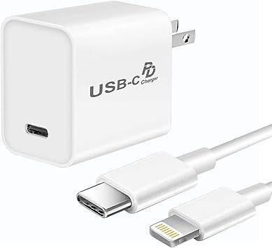 Cargador rápido para iPhone 11/11Pro/11Pro Max/Xs Max/XR/X/8 Plus, cargador USB