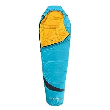 JSJDFPDC Momia Bolsa de Dormir al Aire Libre Camping Ultralight 3 Temporada Invierno algodón Adulto Sacos de Dormir para turistas 1750G/210 * 80cm,Azul ...