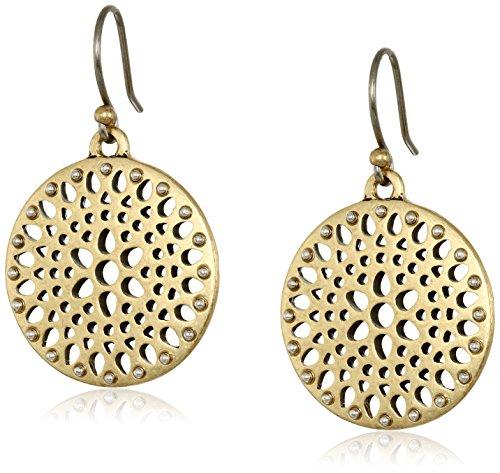 Two Tone Openwork - Lucky Brand Two Tone Open Work Drop Earrings