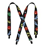 CTM Kids' Halloween Print Holiday Suspenders, Black