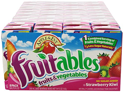 - Apple & Eve Fruitables, Strawberry Kiwi, 200-ml, 8 Count, Pack of 5