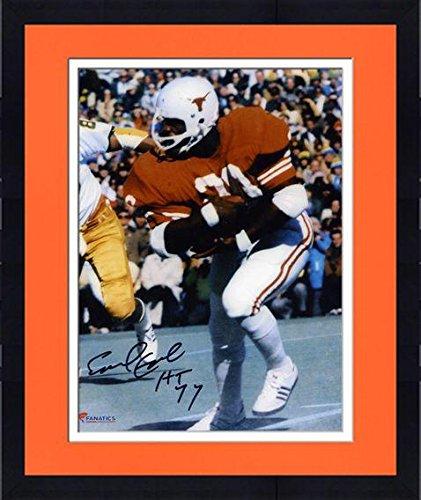 Framed Earl Campbell Texas Longhorns Autographed 8