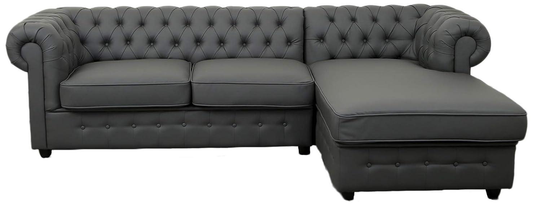 Stupendous Chesterfield L Shaped Corner Sofa Settee Pu Leather Linen Inzonedesignstudio Interior Chair Design Inzonedesignstudiocom