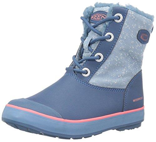 KEEN Baby Elsa WP Fashion Boot, Captains Blue/Sugar Coral, 9 Toddler US (Captains Boot)