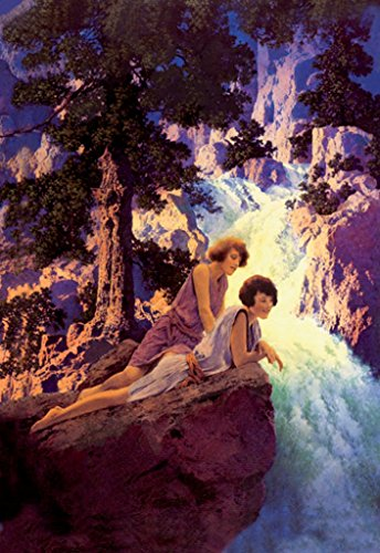 ArtParisienne Waterfall Maxfield Parrish 12x18 Poster Semi-Gloss Heavy Stock Paper Print