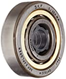 SKF QJ 304 MA Angular Contact Ball Bearing, ABEC 1 Precision, Four-Point Contact Design, Brass Cage, 35° Contact Angle, Normal Clearance, Open, Metric, 20mm Bore, 52mm OD, 15mm Width