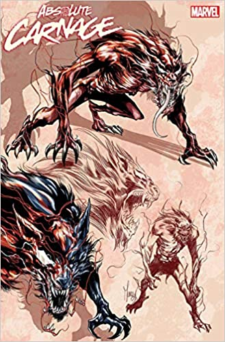 ABSOLUTE CARNAGE 1 AARON KUDER YOUNG GUNS VARIANT NM of 4