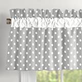 Carousel Designs Gray and White Dots and Stripes Window Valance Rod Pocket