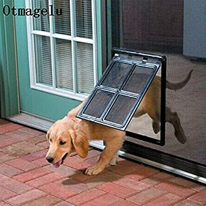 Amazon Dominich Wilson Lockable Plastic Pet Dog Cat Kitty Door