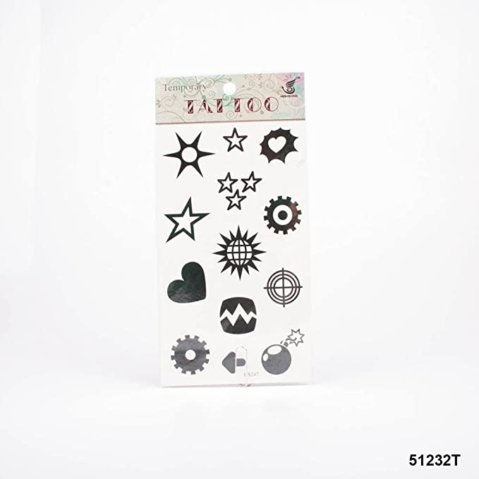 Tatuajes Estrella, corazón, rueda dentada y flecha, bombe, Bola de ...