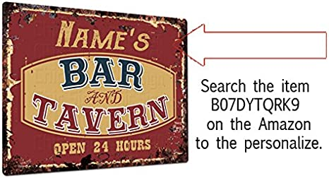 PPBT0277 ISAAC/'S BAR and TAVERN Rustic Tin Chic Sign Home Store Decor Gift