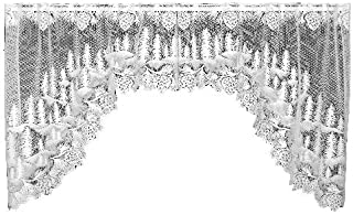 product image for Heritage Lace Pinecone 70-Inch Wide by 38-Inch Drop Swag Pair, Ecru