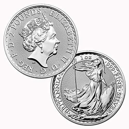 2020 UK Great Britain 1 oz Silver Britannia Coin 999 2 Pounds 219922 New