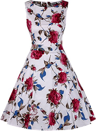 owin-womens-vintage-1950s-floral-spring-garden-picnic-dress-party-cocktail-dress-s-white-red