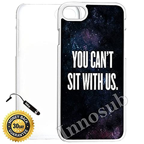 Custom iPhone 7 Case (You Can t Sit With Us Nebula) Edge-to-Edge Plastic White Cover with Shock and Scratch Protection | Lightweight, Ultra-Slim | Includes Stylus Pen by (You Cant Sit With Us Phone Case)