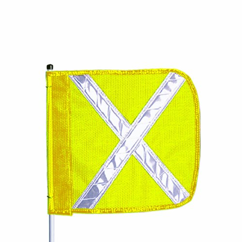 (Flagstaff FS10 Safety Flag with Reflective X, Threaded Hex Base, 16