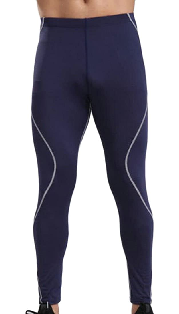 Spirio Mens Stretchy Leggings Running Compression Quick-Drying Tights Long Pants