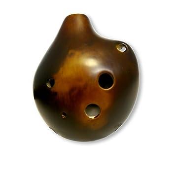 Amazon 6 hole seedpod pendant ocarina ceramic strawfire 6 hole seedpod pendant ocarina ceramic strawfire finish alto c necklace flute aloadofball Image collections