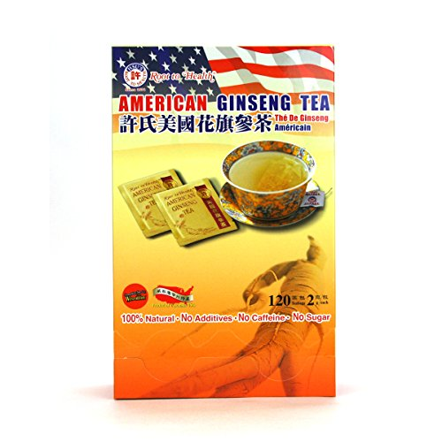 (#1032) Hsu's Ginseng American Ginseng Tea 120's by Root To Health