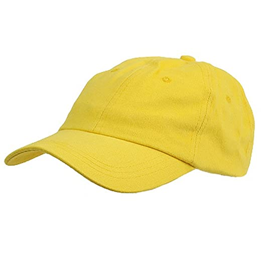 6 Panel Light Cotton Cap   Yellow at Amazon Men s Clothing store ... 7a44dd8ac5d