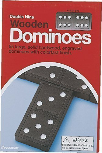 Pressman Toys Double Nine Dominoes (Set of 12)