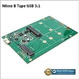 USB 3.1 Micro B Connector to M.2 / mSATA SSD Adapter Board