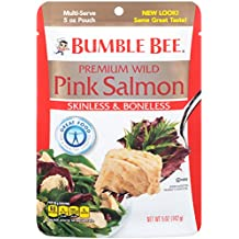 Bumble Bee Premium Skinless & Boneless Wild Pink Salmon, 5oz Pouch (Pack of 12)