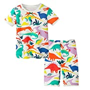 Herimmy Little Girls Cute Print Pajamas Set Toddler Kids Sleepwear Pjs by (Dinosaur/2T)