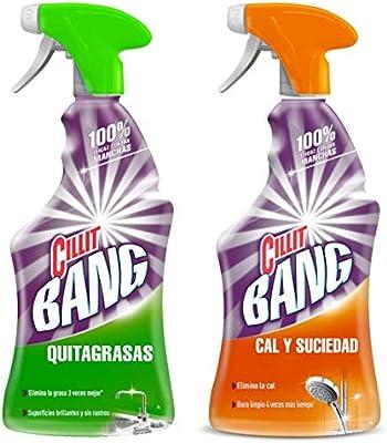 Cillit Bang - Spray Limpiador Cal y Suciedad, para Baños + Spray ...