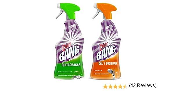 Cillit Bang - Spray Limpiador Cal y Suciedad, para Baños + Spray Quitagrasas Brillo, para cocinas - Pack 2 x 750 ml: Amazon.es: Salud y cuidado personal